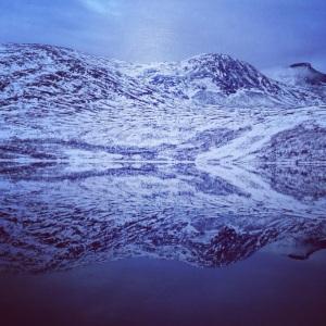 Bilde av fjell, vann, natur