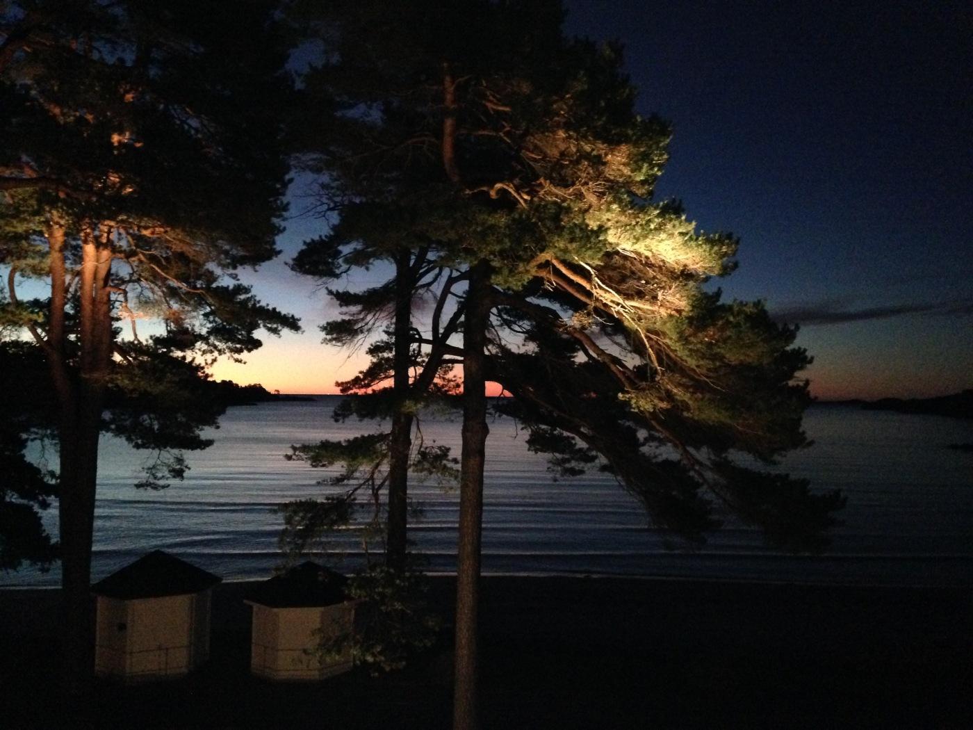 Illustrasjonsfoto: Solnedgang i Fevik
