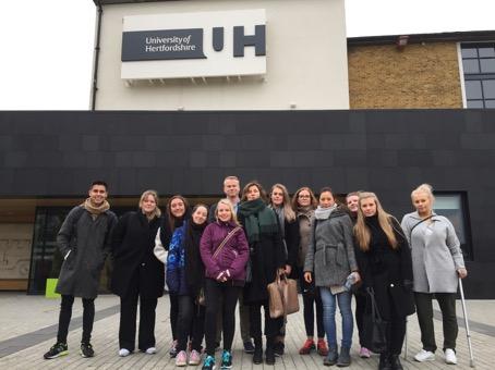 Bildet viser årets delegasjon med lærere og studenter fra Høgskolen i Oslo og Akershus.