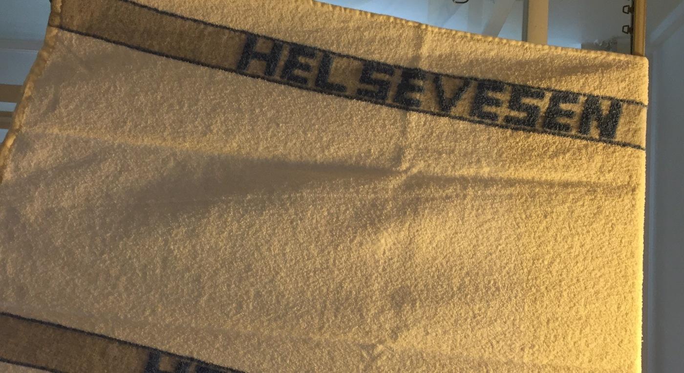 Bilde av håndkle med påskriften; helsevesen