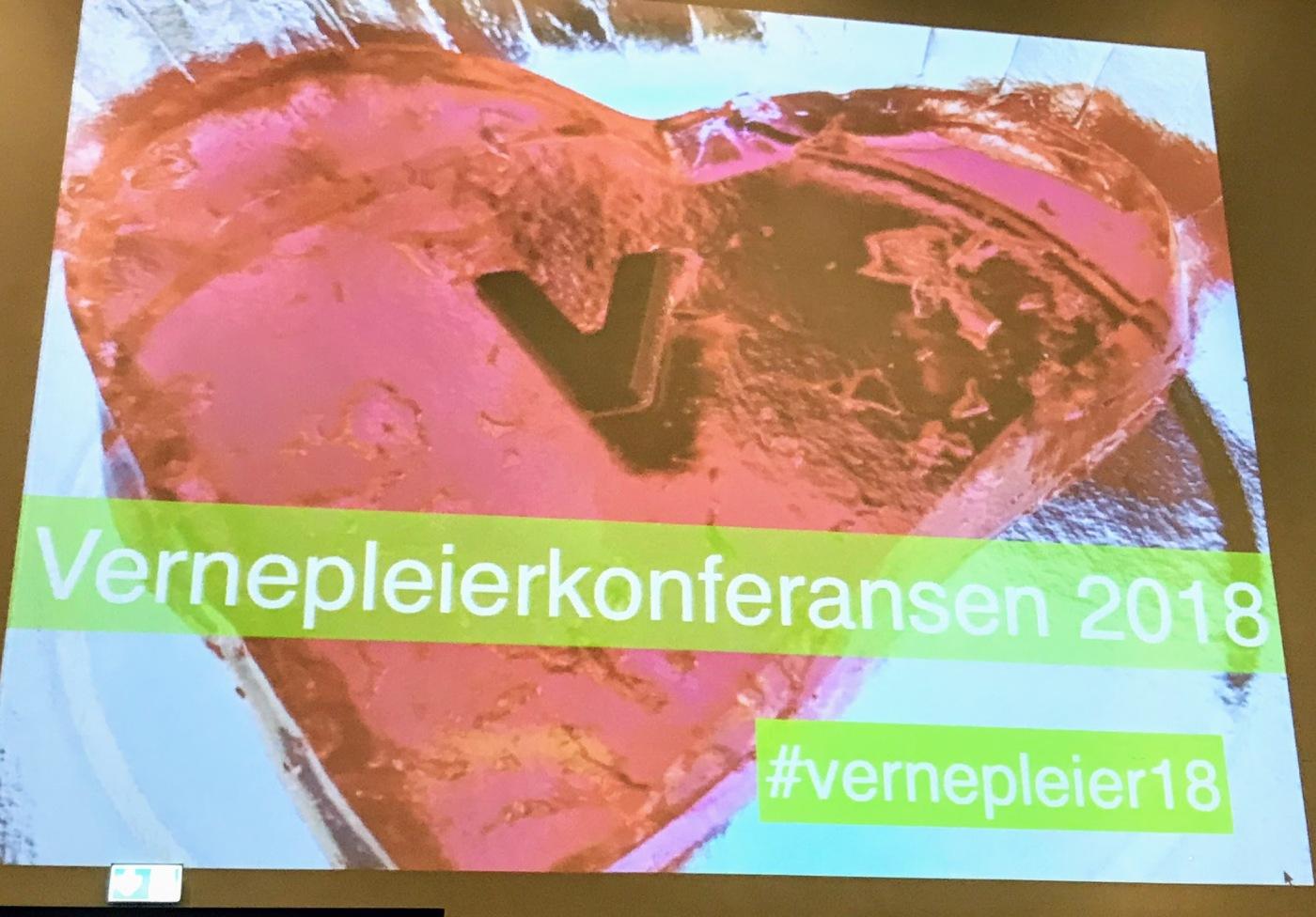 """Bilde av et hjerte med teksten """"Vernepleierkonferansen"""""""