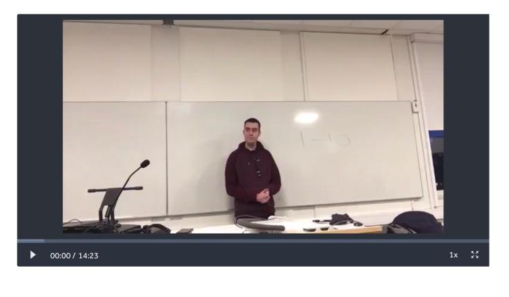 Stian Orm sin forelesning. Klikk på bildet.