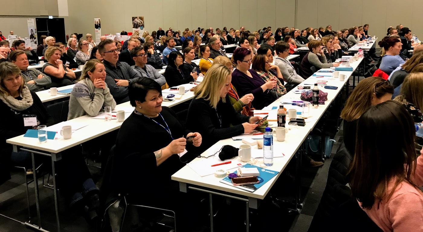 Bilde av deltakere ved vernepleierkonferansen 2018